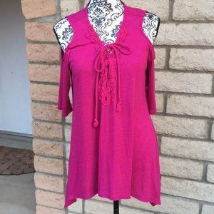 LA threads cold shoulder blouse